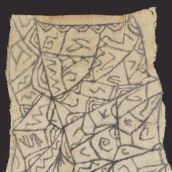 Mbuti Pygmy Painting on Bark Cloth