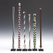 Tutsi Ceremonial Beaded Staffs